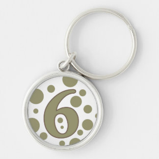 6-Six Keychain