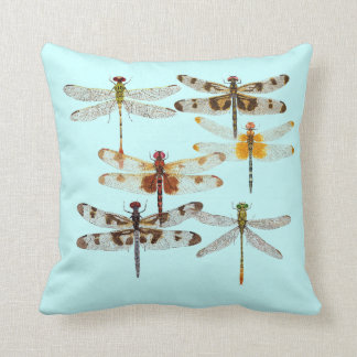 6 Species of Dragonfly Pillow Pillow