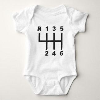6 Speed Shift Gate Baby Bodysuit