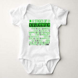 6 Stages of Debugging IT Coding Debugger Program Baby Bodysuit