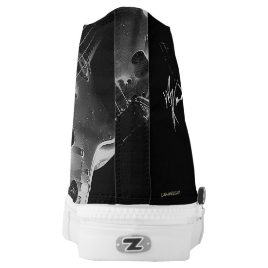 6 String Lover on High Top (black and white)