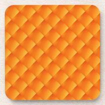 6 Sunny Orange Yellow   coasters cork back