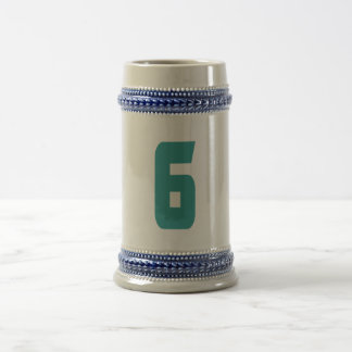 #6 Teal Bold Beer Stein