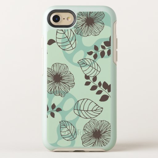 6 Toed Paw Print Flower Design iPhone Case