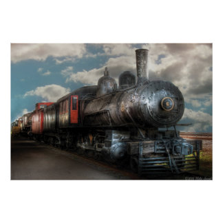 6 - Train - NW Class G Steam Locomotive 4-6-0 Poster