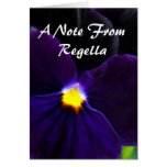 6 Velvety Purple Blue Pansy Greeting Cards