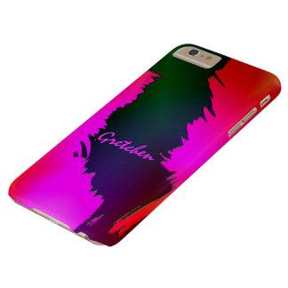 6 verdes y rosados de Gretchen caso más del iPhone Funda Barely There iPhone 6 Plus
