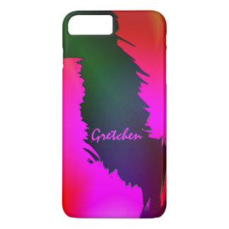 6 verdes y rosados de Gretchen caso más del iPhone Funda iPhone 7 Plus