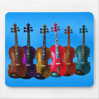 6 VIOLINS ON BLUE MOUSE PAD