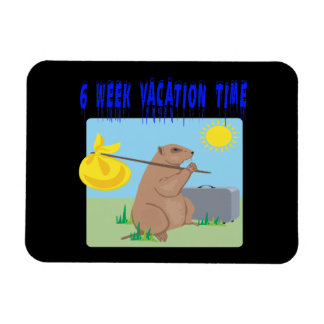 6 Week Vacation Time Magnet