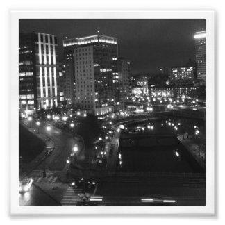 6 x 6 impresión de Instagram Ciudad en la noche