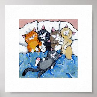 """6"""" x gatitos caprichosos el dormir del arte el   d poster"""