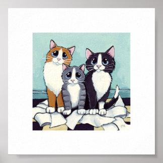 6 x gatitos traviesos caprichosos del arte el d impresiones