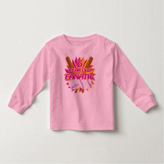 6 Year Old Baseball Fanatic Toddler T-shirt