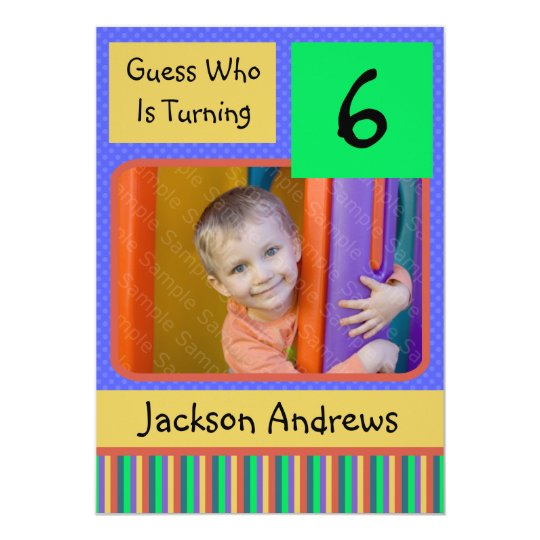 6 Year Old Birthday Party Invitations BOY