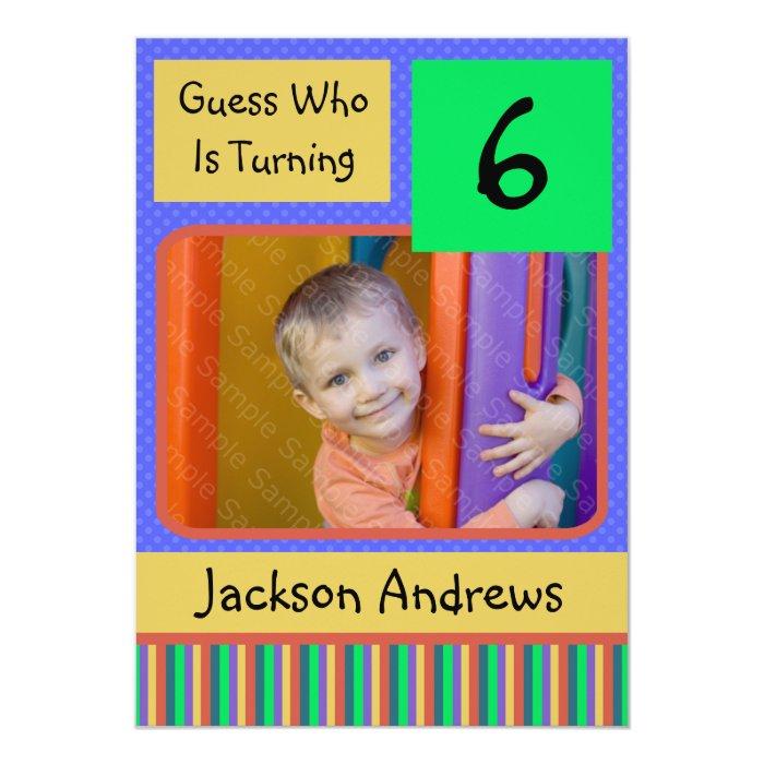 Boy Birthday Invitations 11 Years Old 6 Year Party BOY
