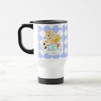 6 year old Birthday Unicorn Travel Mug