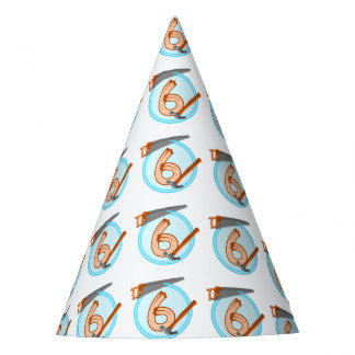 6 year old boy builder tools birthday design party hat