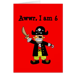 6 year old pirate boy card