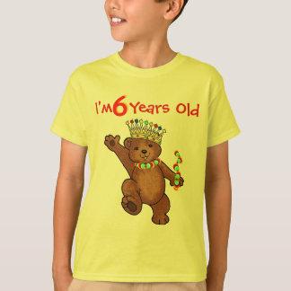 6 Year Old Royal Bear Birthday T-Shirt