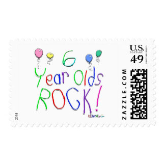 6 Year Olds Rock ! Postage