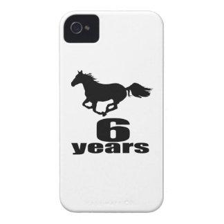 6 years Birthday Designs iPhone 4 Case