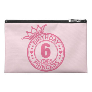 6 years - Birthday Princess - pink Travel Accessory Bag