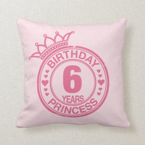 6 years - Birthday Princess - pink Pillows