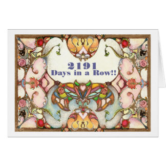 6 Years of Recovery Days Greeting Card