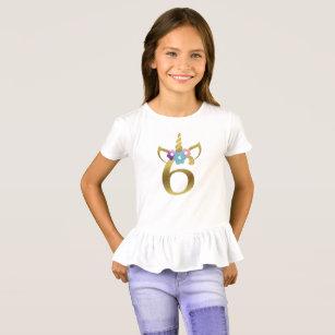 6 Years Old Unicorn Birthday Girl For Kids T Shirt