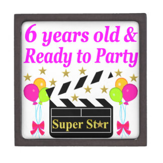 6 YRS OLD AND READY TO PARTY HOLLYWOOD DESIGN JEWELRY BOX
