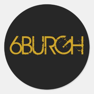 6BURGH CLASSIC ROUND STICKER