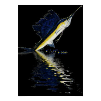 6Ft Leaping Sailfish Poster by FishTs com