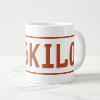 6kilo taxi licence plate mug 20 oz large ceramic coffee mug