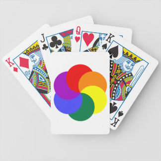 6partialmoonsrainbow COLORFUL GRAPHIC CIRCLE CIRCU Bicycle Playing Cards