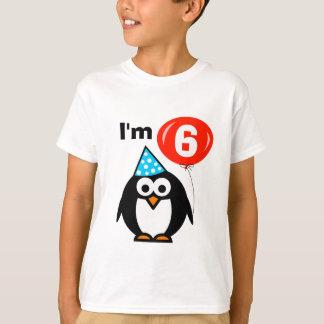 6ta camisa del cumpleaños de los niños con el