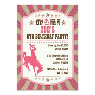 6ta invitación de la chica marchosa del cumpleaños
