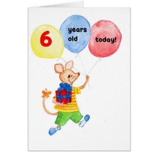"""6ta tarjeta de cumpleaños del """"pequeño ratón"""""""