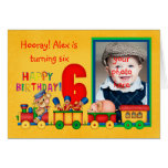 6ta tarjeta de la foto del cumpleaños con el tren