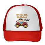6tas camisetas y regalos del cumpleaños del coche  gorro de camionero