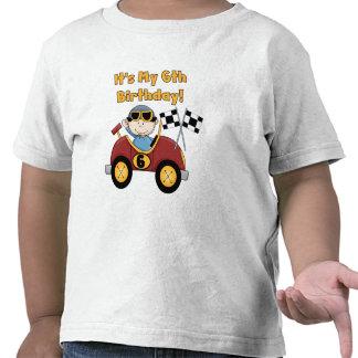 6tas camisetas y regalos del cumpleaños del coche