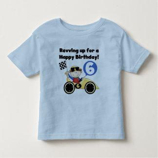 6tas camisetas y regalos del cumpleaños del coche polera