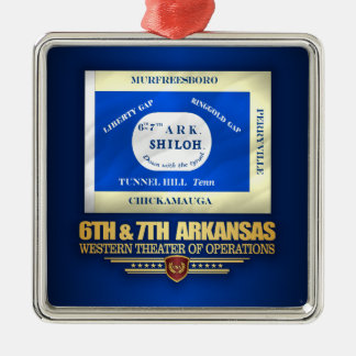 6th & 7th Arkansas Infantry (consolidated) Metal Ornament