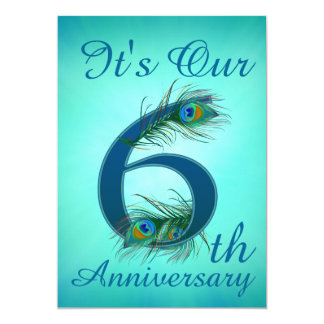 6th Anniversary invitation cards number 6