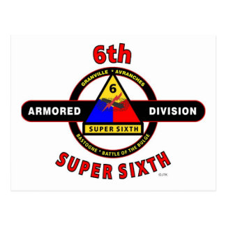 """6TH ARMORED DIVISION """"SUPER SIXTH"""" POSTCARD"""