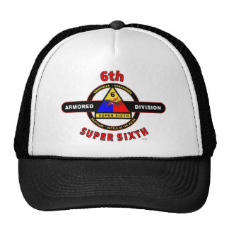 "6TH ARMORED DIVISION ""SUPER SIXTH"" TRUCKER HAT"