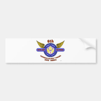 "6TH ARMY AIR FORCE ""ARMY AIR CORPS"" WW II BUMPER STICKER"