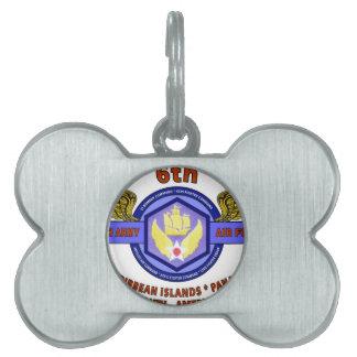 "6TH ARMY AIR FORCE ""ARMY AIR CORPS"" WW II PET ID TAG"