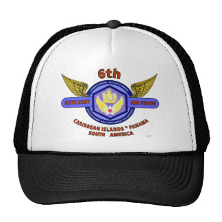 "6TH ARMY AIR FORCE ""ARMY AIR CORPS"" WW II TRUCKER HAT"