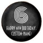 "[ Thumbnail: 6th Birthday - Art Deco Inspired Look ""6"", Name ]"